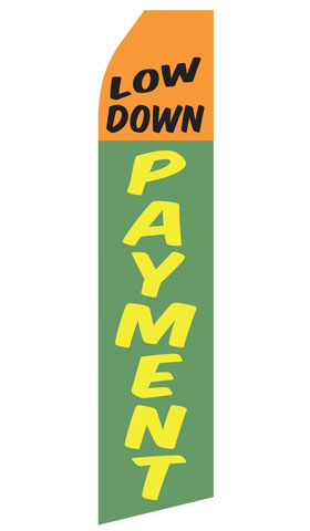 Low Down Payment Swooper Flag