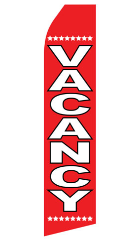 Vacancy Swooper Flag