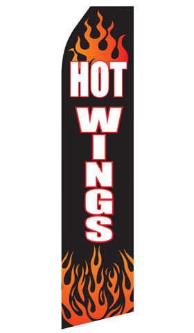 Hot Wings Swooper Flag