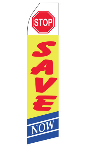 Stop Save Here Swooper Flag