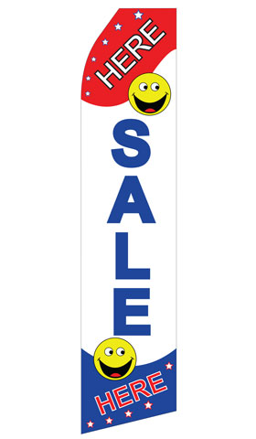 Sale Here Swooper Flag