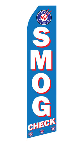 Smog Check Swooper Flag