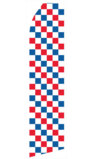 Red, Blue, and White Checkered Swooper Flag