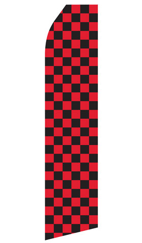 Red and Black Checkered Swooper Flag