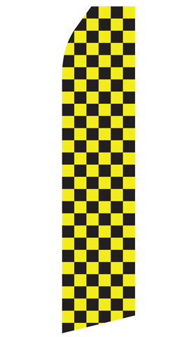 Yellow and Black Checkered Swooper Flag