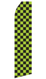 Green and Black Checkered Swooper Flag
