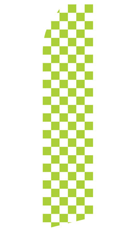 Green and White Checkered Swooper Flag