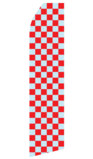 Grey and Red Checkered Swooper Flag