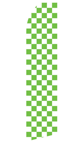 Green Checkered Swooper Flag